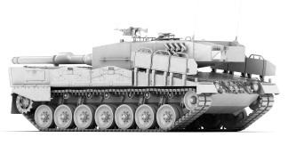 Leopard2A4_backwards_clay
