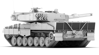 Leopard2A4_rear_clay